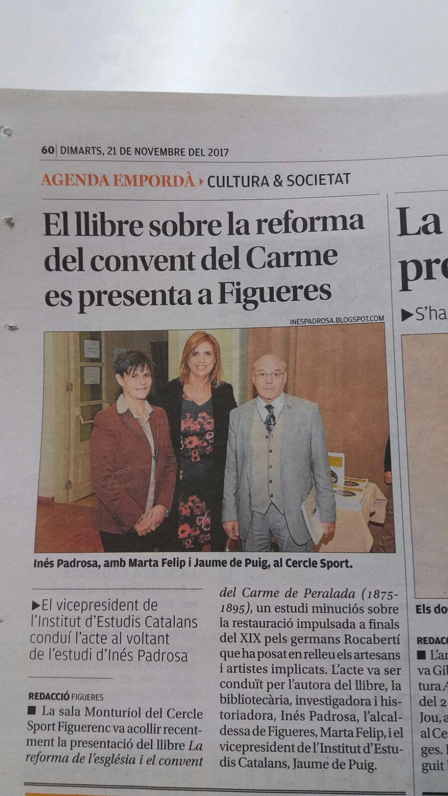 la reforma del convent del Carme