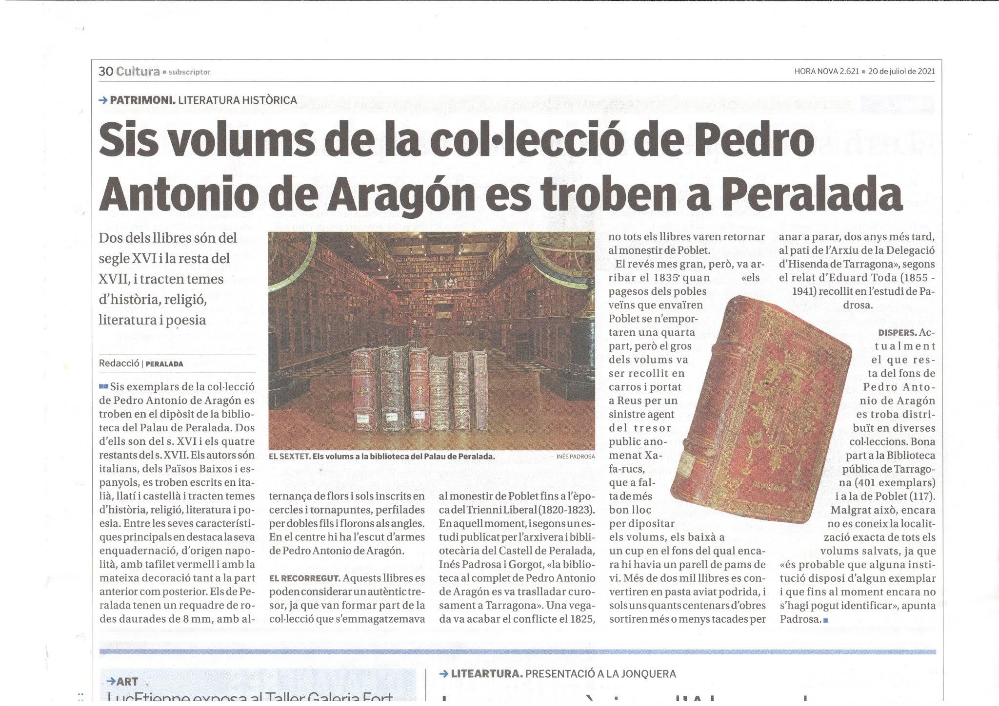 Pere Antoni d'Aragó_Peralada_Hora Nova